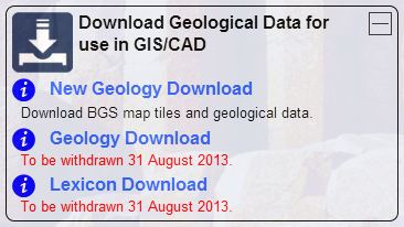 Geology Download Replacement Message