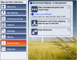 Environment Digimap Home Page
