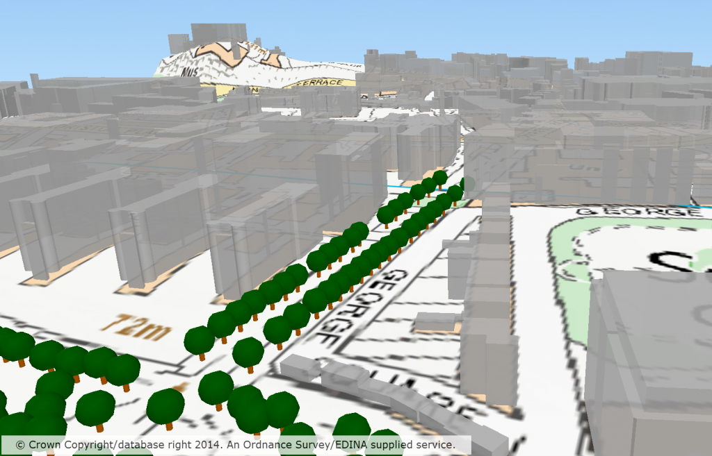 QGIS 3D visualisation with trees
