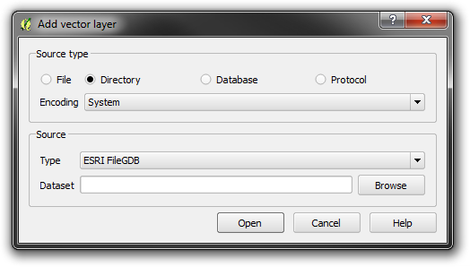 Opening a Digimap File Geodatabase in QGIS
