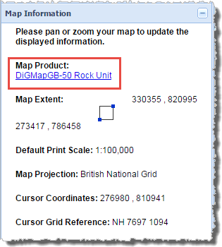 Map Information Product Hyperlinks