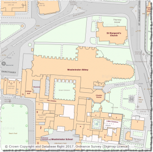 OS MasterMap Topography Layer showing Westminster