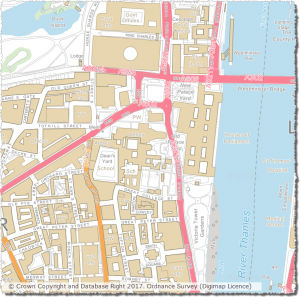 OS VectorMap Local showing Westminster
