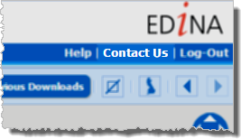 Contact Us Link in Data Download