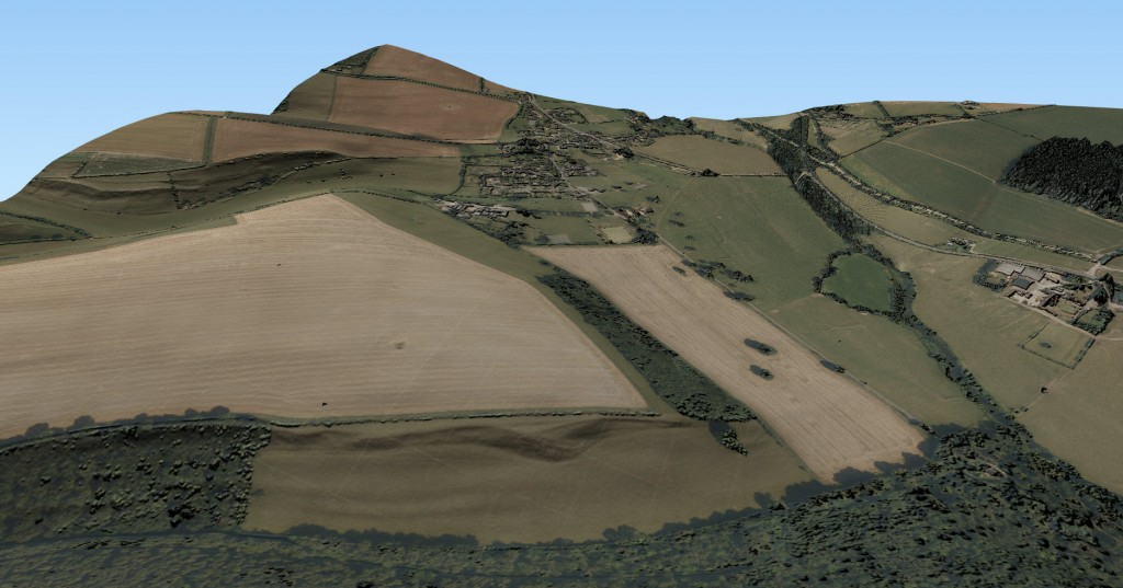 3D scene with Aerial imagery and Lidar